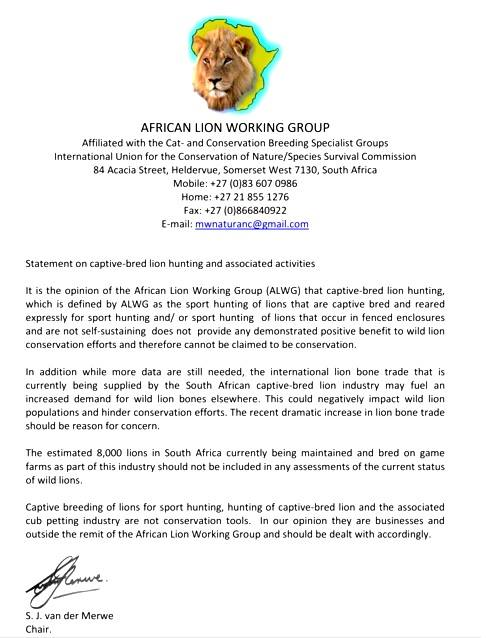 African Lion Working Group