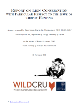 wildcru-report_front-page